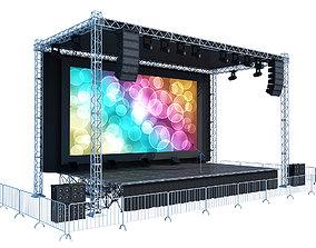 3D Concert Stage scene