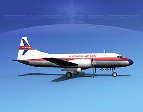 3D model Convair CV-340 Allegheny