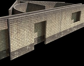 3D model brick Wall modular - construction kit - set E