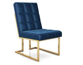 3D Goldfinger Navy Dining Chair by Jonathan Adler