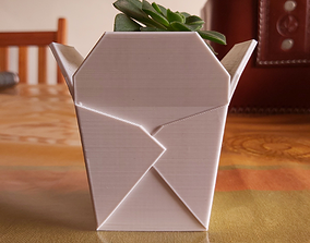 CHINESE TAKEOUT BOX SUCCULENT PLANTER 3D printable model