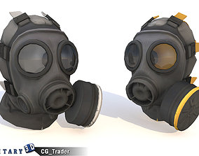 game-ready Lowpoly Gas Mask Realistic Gas Helmet 3d model