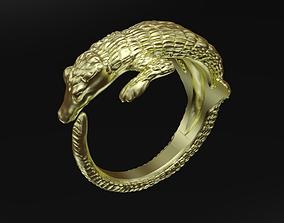 3D printable model Crocodile ring