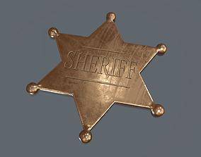 3D asset Sheriff badge