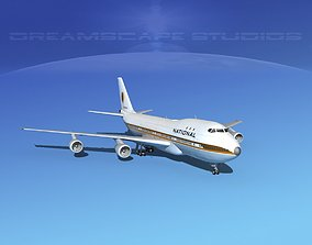 3D Boeing 747-100 National Airlines