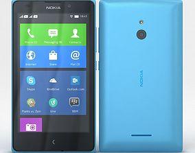 3D model Nokia XL and XL Dual Cyan
