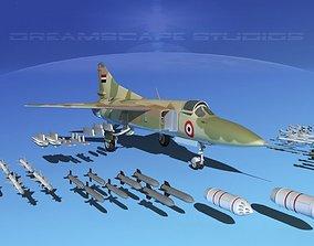 3D model Mig-23 Fighter Libya