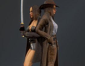 3D asset Girl hunter