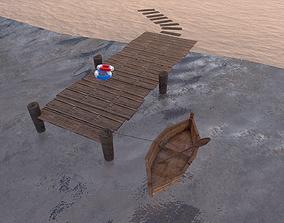 Low Poly Port 3D model