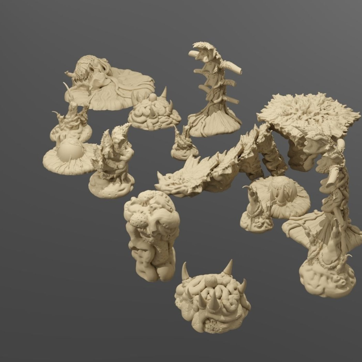 Tyranid Biomass Printable Scatter Terrain UPDATE