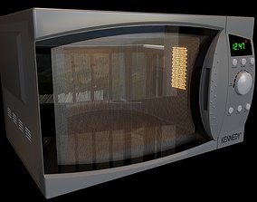 Microwave 3D model microwave
