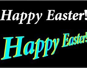 3D asset Happy Easter - D