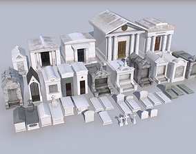 Mausoleums Tombs and Graves pack 3 3D model