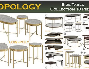 3D model Side and Coffee Table Collection 10 Pieces