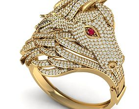 3D printable model Gold Bangle With Diamond Horse