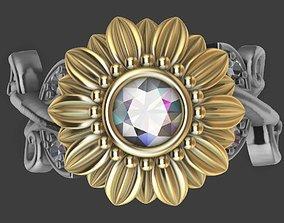 Sunflower Ring 3D print model
