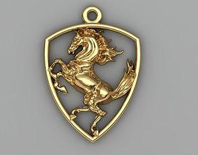 3D printable model luxury horse pendant