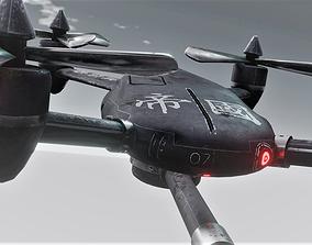 Air Force Combat Drone in 2 colors 3D asset