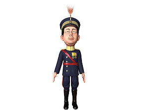 animated Emperor Hirohito rigged animated low poly 3d