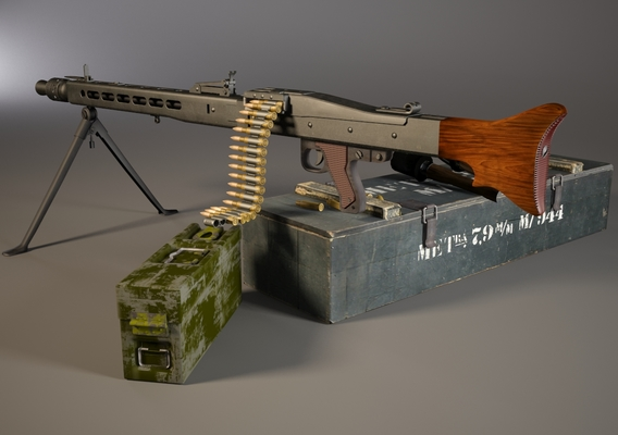 MG 42 WW2 German Machine Gun Set
