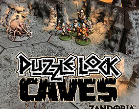 PuzzleLock Caves 3D print model