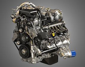 L5P Engine - V8 Turbo Diesel Engine 3D model