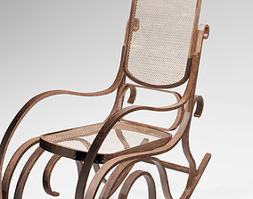 Rocking Chair 3D asset game-ready