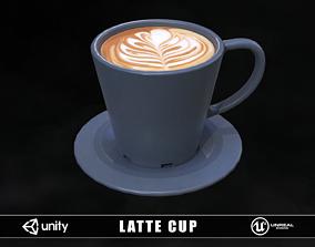 Latte Cup 3D asset