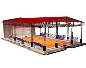 3D model basketball gym