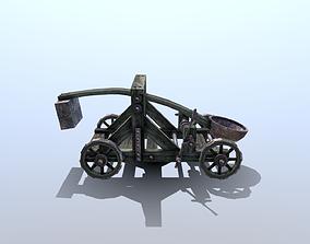 3D asset Medieval Catapult