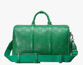 3D Gucci GG embossed duffle bag green