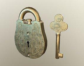 3D model Lock gold
