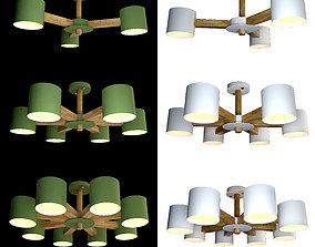 Ceiling lamps set 021 3D