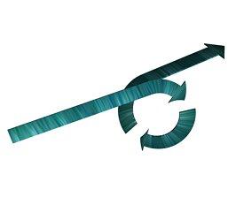 Arrows recycling 20 3D model
