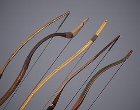Medieval Bows 3D model