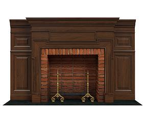 3D Classic fireplace 03