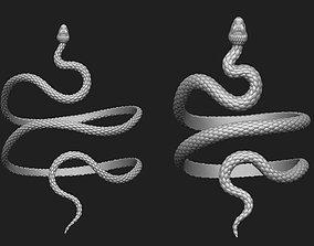 Snake bracelet 2 thickness variants 3D model