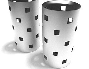 Cylinder Square Cutouts 3D model