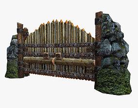 Wooden Gate 3D asset