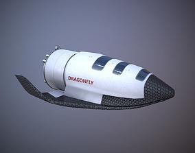 3D asset Dragonfly Shuttle