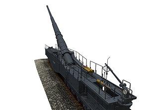 Canon Leopold Krupp K5 railway 3D model