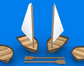 3D asset realtime Low Poly Boats Kit