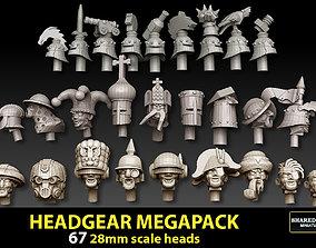 3D print model miniatures 28mm Headgear Megapack