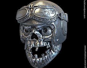 3D printable model biker helmet skull vol1 Pendant jewelry