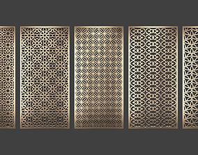 Decorative panel set 77 3D