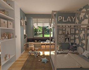 Children room 3D model game-ready
