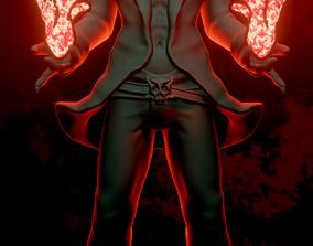 3d Devil King with pyro magic 3D printable model