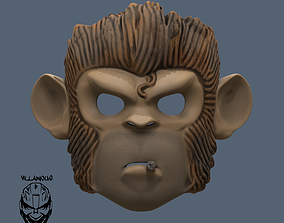 3D printable model Space Monkey Pogo Mask