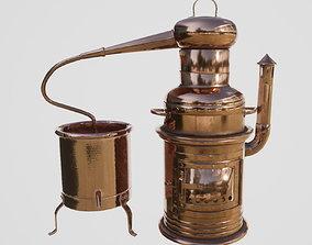 Copper Distiller 3D asset