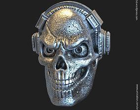 Skull with headphone vol3 3D printable model